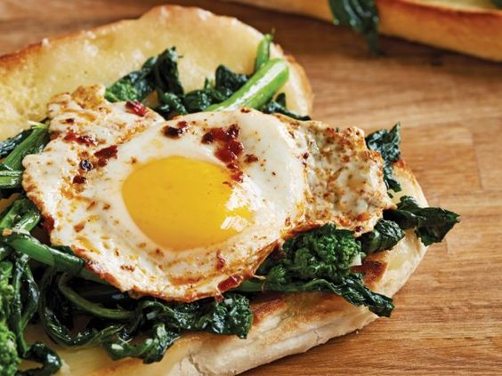 Philly-Style Garlicky Greens and Egg Sandwich from the new #ChoppedCookbook