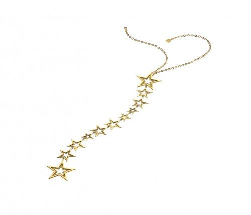 Art Deco-inspired necklace, formed of stars bound together in... #AFMW