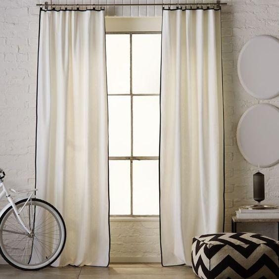 Window panels west elm curtains and west elm on pinterest
