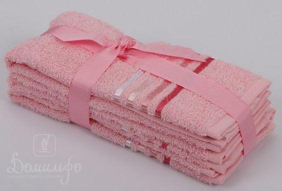 Набор полотенец BALE розовый 30х50 (3шт) от Karna (Турция) - купить по низкой цене в интернет магазине Домильфо