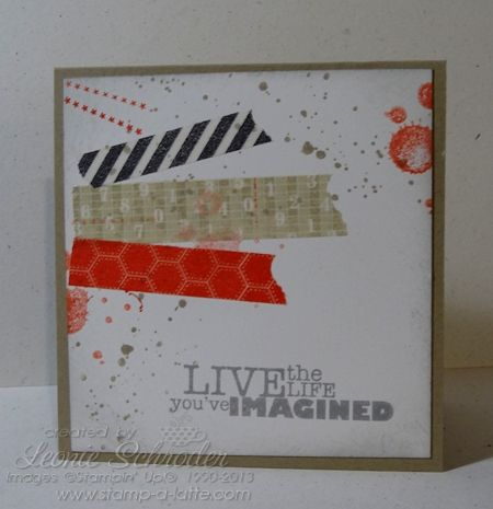 Washi Grunge Stampin' Up! Gorgeous Grunge, Really Good Greetings and Epic Day Washi Tape super quick and easy card - check my blog for details
