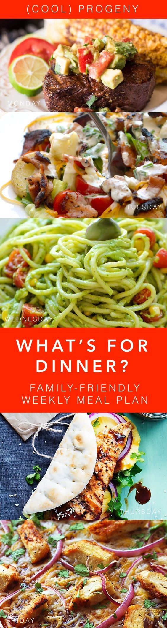 A kid-friendly dinner plan to help you get through the busy week and still savor the flavors of summer! Best part? All of these go from ingredients to table in under 30 minutes, which means you can spend more time kicking soccer goals in the front yard or running through the sprinkler.  http://coolprogeny.com/2016/07/family-friendly-dinners-2/?utm_campaign=coschedule&utm_source=pinterest&utm_medium=%28cool%29%20progeny&utm_content=family-friendly%20dinners%20this%20week