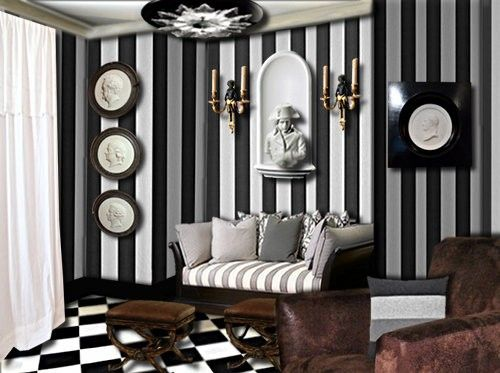 decoration mur noir et blanc