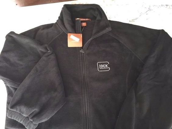 Glock Logo Embroidered Full Zipper 100% Polyester Black Fleece ...