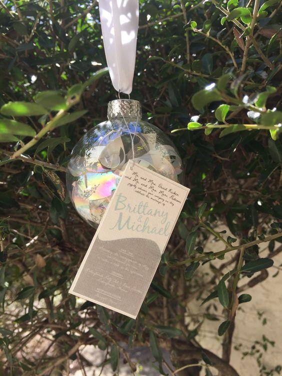 Invitation Ornament Keepsake by unINKway on Etsy https://www.etsy.com/listing/252991739/invitation-ornament-keepsake