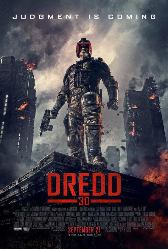Judge Dredd... Hope this second film attempt is better than the first! Although the plot seems very like THE RAID?