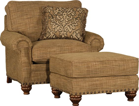 Mayo Furniture 8590 Fabric Chair And Ottoman