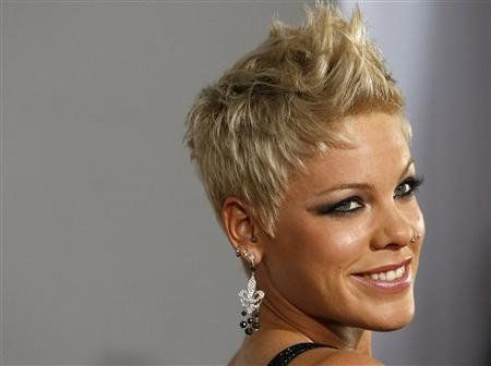 pixie hair style pop singer pink named billboard s of the year pink 1818
