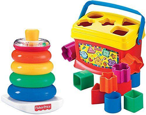 Toys 1 Year Old Top Toys For Christmas 2017 Fisher Price Rock A Stack And Baby S 1st Blocks Bundle Baby Developmental Toys Fisher Price Baby Best Baby Toys