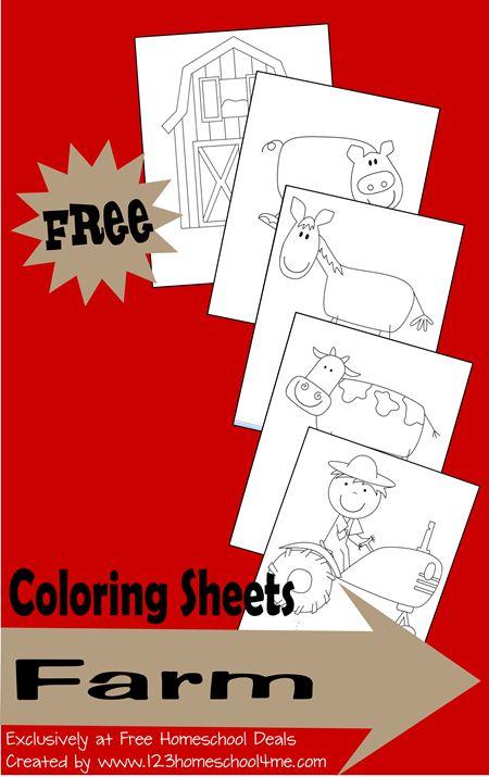 Homeschool Download: Free Farm Coloring Sheets | Colorante ...