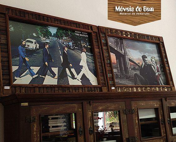 Molduras de quadro em madeira de demolição - http://moveisdobem.com