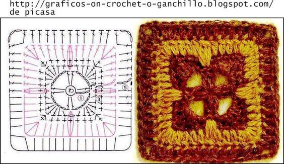 PATRONES - CROCHET - GANCHILLO - GRAFICOS: GRANNY - UNA LINDA COLECCION PARA IR GUARDANDO