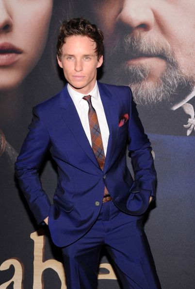 "Fabulously spotted: Eddie Redmayne at the ""Les Miserables"" New"