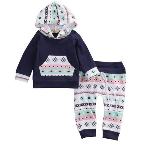 Toddler Kids Baby Boy Girl Clothes Hooded Shirt Long Pants Leggings Outfits