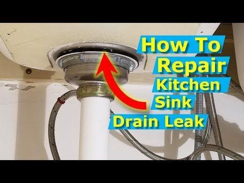 How To Replace A Kitchen Sink Drain Strainer Repair Leak Youtube Sink Drain Sink Repair Under Kitchen Sinks