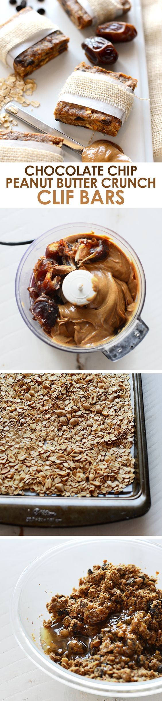 Make your own homemade clif bars with just a few simple ingredients! They're gluten and refined-sugar free making them a healthy snack!