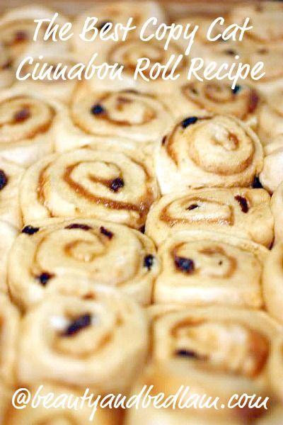cinnabon copy cat recipe (minus raisins - yuck)