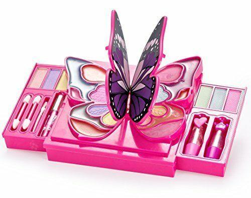 Jaxojoy Girly Girl Butterfly Makeup Kit Girls Palette 30 Piece Set Eye Shadow 696567817320 Ebay Makeup Kit Gi Butterfly Makeup Kids Makeup Makeup Kit For Kids