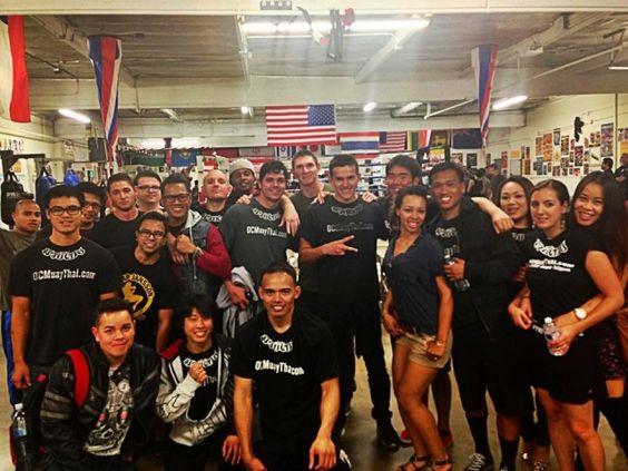 The OC Muay Thai Family having fun!