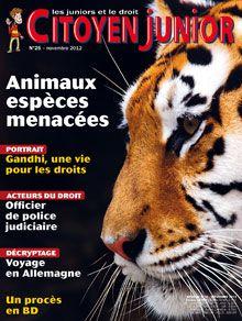 Citoyen Junior s'intéresse aux animaux, et plus précisément aux espèces menacées. Quelles sont ces espèces menacées ? Depuis quand et pourquoi disparaissent-elles ?