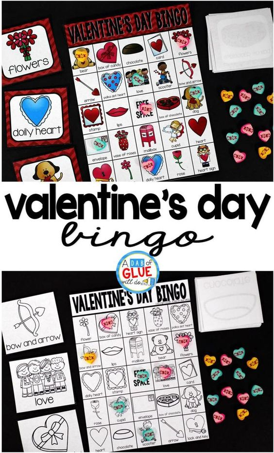 Play Bingo with your elementary age students for a fun Valentine's Day bingo game! Perfect for large groups in your classroom or small review groups. Add this to your Valentine's Day party with 30 unique themed Bingo boards with your students!  Teaching cards are also included in this fun game for young children! Black and white options available to save your color ink.