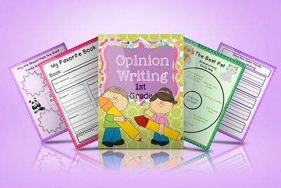 Opinion Writing Templates from Fearless in First Grade on TeachersNotebook.com -  (15 pages)  - This pack contains three ideas and organizers for Opinion Writing