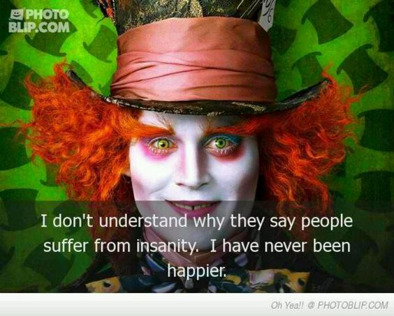 alice in wonderland quotes mad hatter johnny depp
