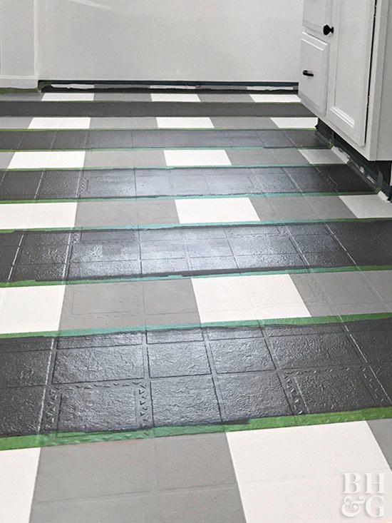 How To Paint Buffalo Check Vinyl Flooring Vinyl Flooring Flooring Decor