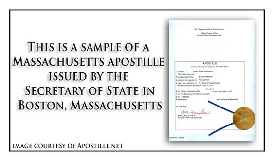 Massachusetts birth certificate suitable for apostille State of - example of divorce decree