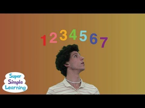 Seven Steps from Super Simple Songs  number recognition to 7  counting up to and down from 7