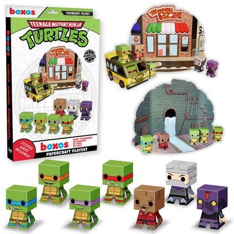 Papercraft Playset: Teenage Mutant Ninja Turtles | Funko