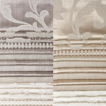 Patterned curtains are a great way to add decorative detail to a neutral colour scheme. Check out our Stately Collection.