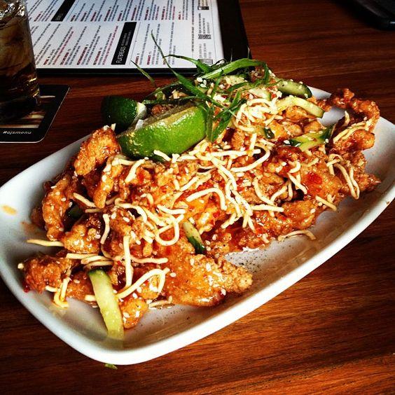 Photo by angelalervik - Date night appy! #ojsmenu #delicious #chicken #thai #spicy