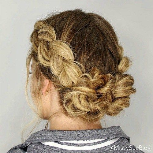 20 Hairstyles For Greasy Hair That Hide Oily Roots Braided Bun Hairstyles Greasy Hair Hairstyles Hair Styles