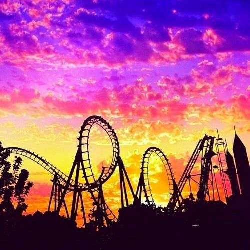 life is like a roller coaster you got plenty of ups and downs.