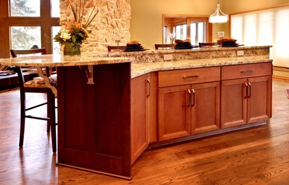 Kitchen Two Teired Countertop Two Tier Alder Island Cultivate Kitchen Inspiration