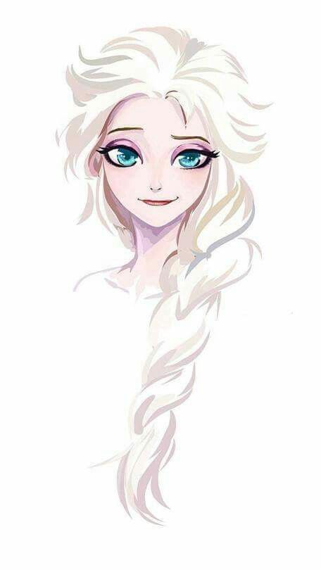 Elsa.  I could probably do this one with my Prismacolor markers.