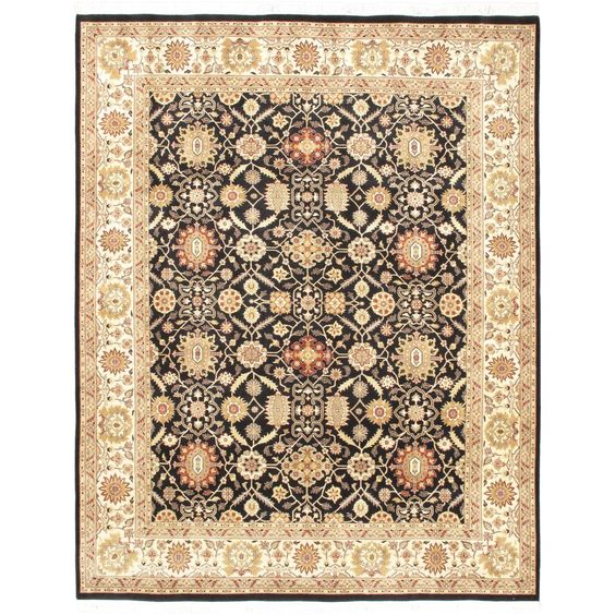 Ecarpetgallery Hand-knotted Peshawar Finest and Black Wool Rug