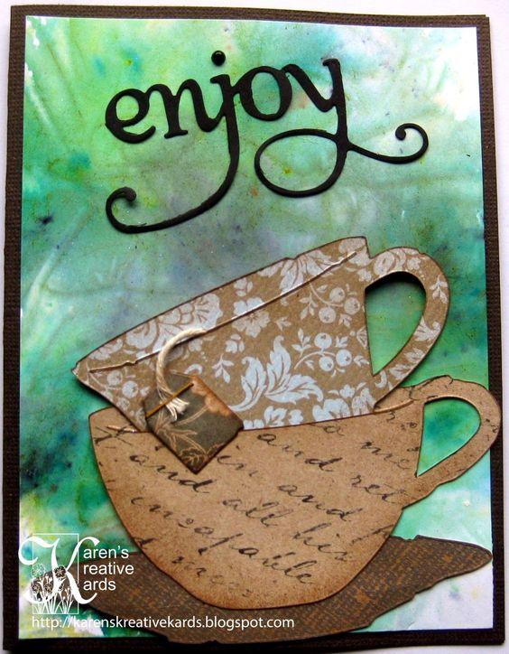 Karen's Kreative Kards: Enjoy Teacups Card