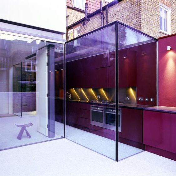 Inside/Outside kitchen by London-based architect David Mikhail