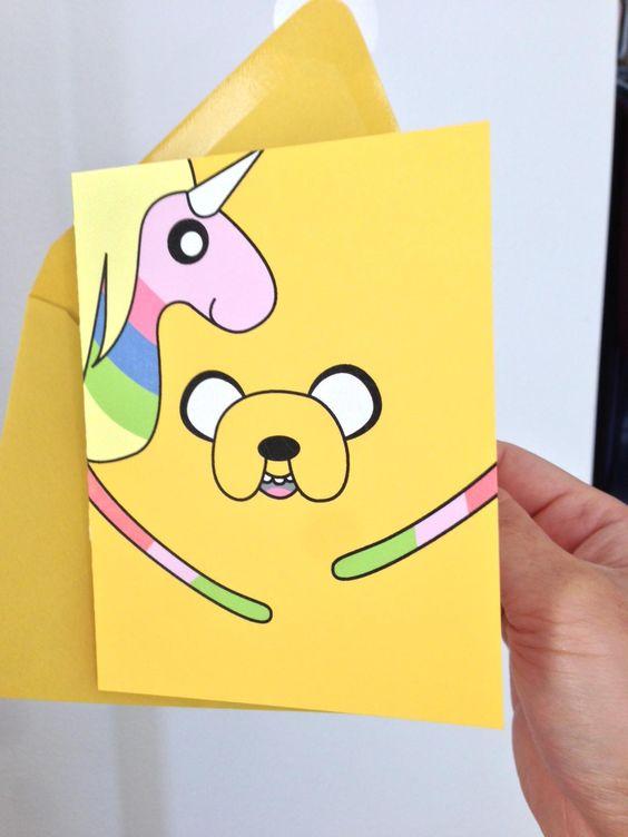 Adventure Time Birthday Card