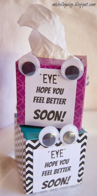 michelle paige: Get Well Soon Tissue Box Gift: