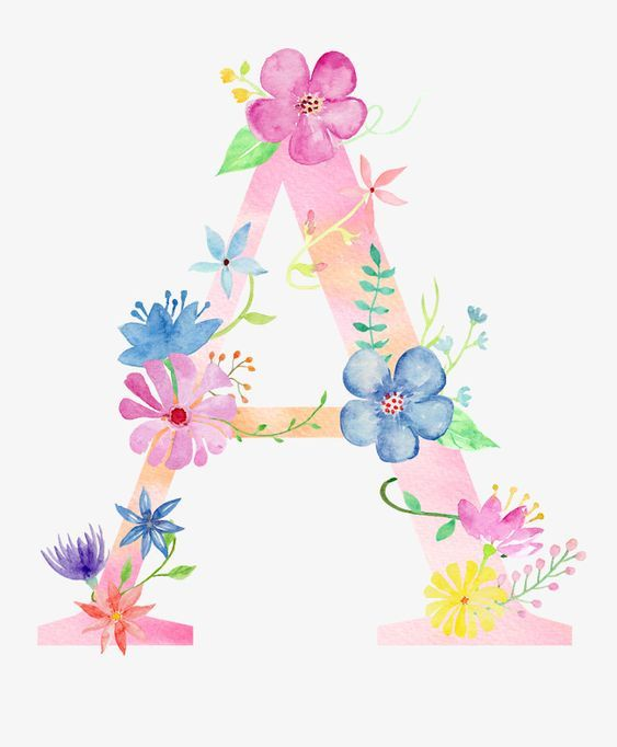 Pin By Mardi S Amazing Funpagez Cre On Decorative And Beautiful Floral Fonts Watercolor Lettering Flower Letters Floral Letters