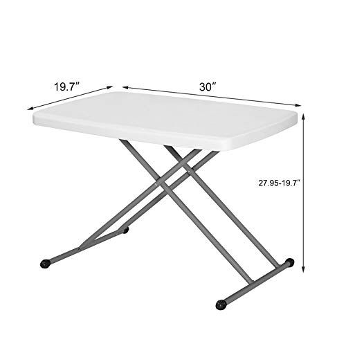 2 5 Portable Plastic Folding Table Fold Up Indoor Outdoor Picnic