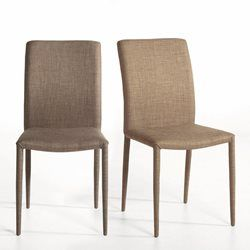 Chaise tissu (lot de 2) Bitume AM.PM - Chaise, tabouret