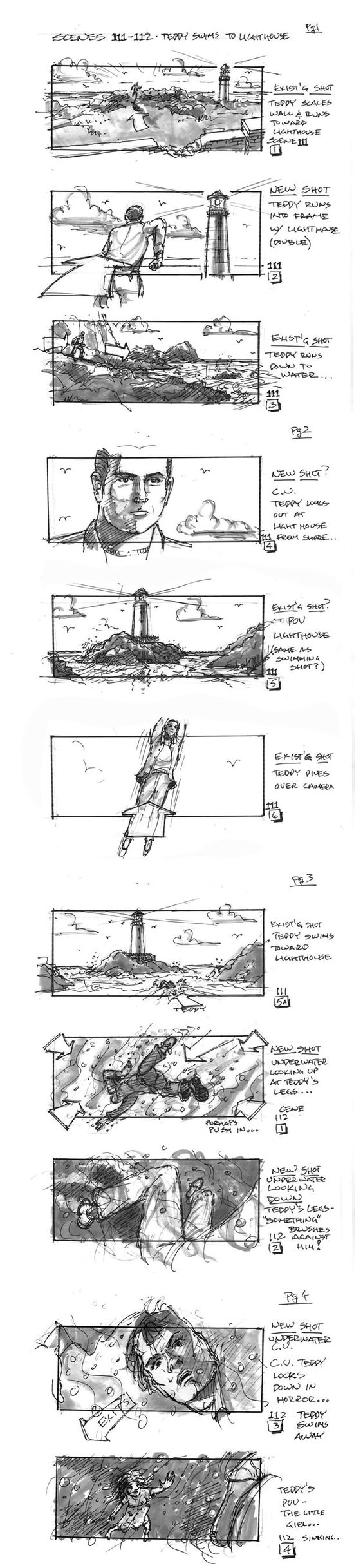 """famous movie storyboards """"Nice, efficient and dramatic"""" KB"""