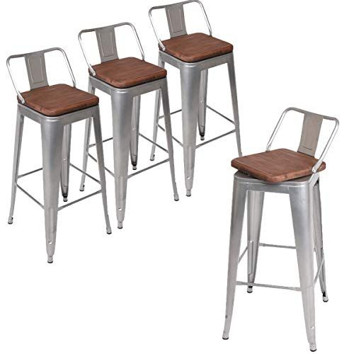 Strange Andeworld Set Of 4 Swivel Counter Height Bar Stools Inzonedesignstudio Interior Chair Design Inzonedesignstudiocom