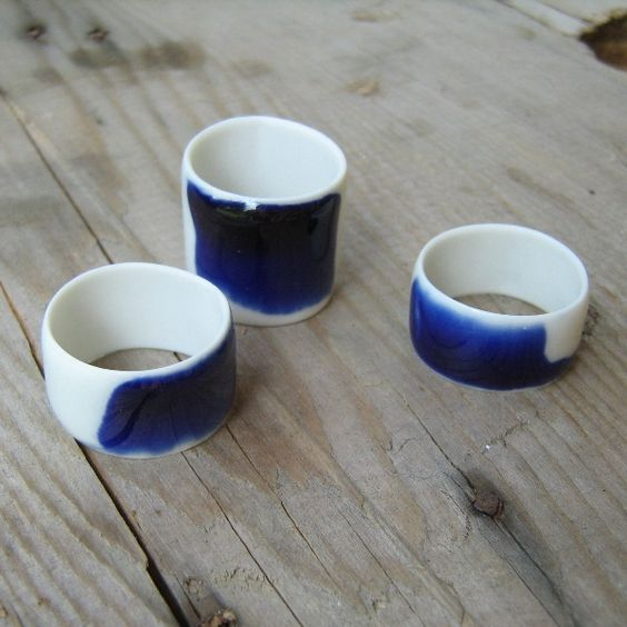 porcelain rings: