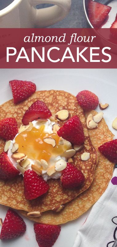 Loving these yummy pancakes using almond flour!