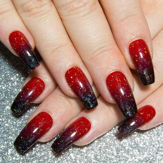 50 Stylish And Fun Halloween Nail Designs Ostty In 2020 Ombre Acrylic Nails Red Acrylic Nails Short Acrylic Nails